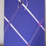 Purple Fabric & Ribbon Memo Noticeboard