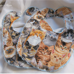 Cat Themed Baby Bib