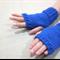 Children's fingerless gloves cobalt royal blue / Australian wool / 4-7 years