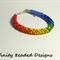 Rainbow Kumihimo Beaded Bracelet