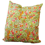 60s flower power retro print cushion cover (size 22)
