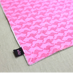 wash or burp cloth - pink kangaroos / organic cotton bamboo / baby toddler girl