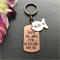 Copper 7th Anniversary Gift - Hand Stamped Keyring - Gift for Him