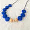 Silicone teething necklace: diamonds and gold