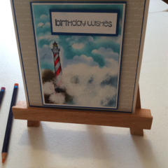 Male Birthday cards. Lighthouse birthday card.