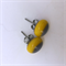 Burst of Colour Yellow and Grey Fused Glass Earrings
