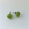 Greenery Pantone Inspired Fused Glass Mini Stud Earrings