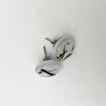 Burst of Colour White Streaky Fused Glass Earrings