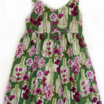 Girls summer strappy dress, special occasion/play dress, Sizes 2-6, custom order