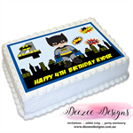 Batman Superhero Personalised A4 Edible Icing Cake Topper