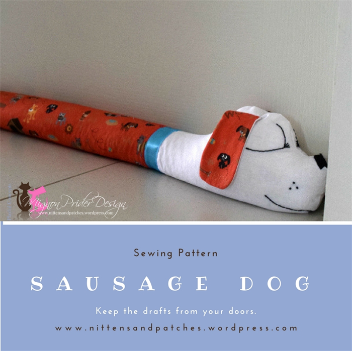 Sausage Dog Sewing Pattern; Door Draft Stopper; Home Decor & Sausage Dog Sewing Pattern; Door Draft Stopper; Home Decor ...