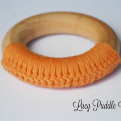 Organic wooden teething ring