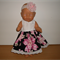 Dress with lace flower headband for Baby Born doll or other 48cm dolls