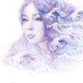 11x14 inch SIGNED She Calls The Sea Mermaid Art Print Pencil Drawing