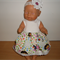 Dolls clothes of dress and headband for Baby Born doll or other 48cm dolls