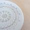 Gold ceramic ring dish, ring holder. porcelain bowl. Trinket dish