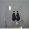 Classic Black Tear Drop Murano Glass Earrings