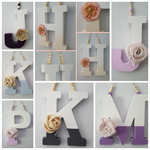 Hanging Letters..Colour Dipped