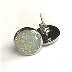 Glitter stud earrings - Irredescent