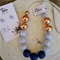 Marbleous Jewellery Set - Navy/Marble/RoseGold