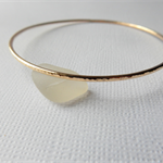 14kt Yellow Gold Bonded Skinny Bangle