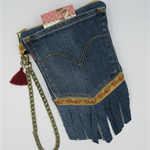 Recycled Denim Pocket Wristlet