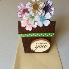 Female Birthday cards. Flower pot pocket cards.