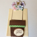 Female Birthday cards. Flower pot pocket cards.