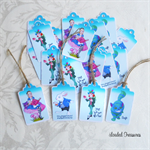 50 Alice in Wonderland Mixed Swing Tags - Small Printed