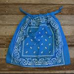 Bandana / Paisley Drawstring Bag - Bright Blue