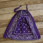 Bandana / Paisley Drawstring Bag - Purple