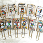 Alice in Wonderland Planner Clip Set of 11-Journal Clips-  Planner Clips