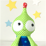 Green Polka Dot Alien Soft Toy