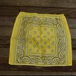 Bandana / Paisley Drawstring Bag - Yellow