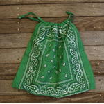 Bandana / Paisley Drawstring Bag - Green