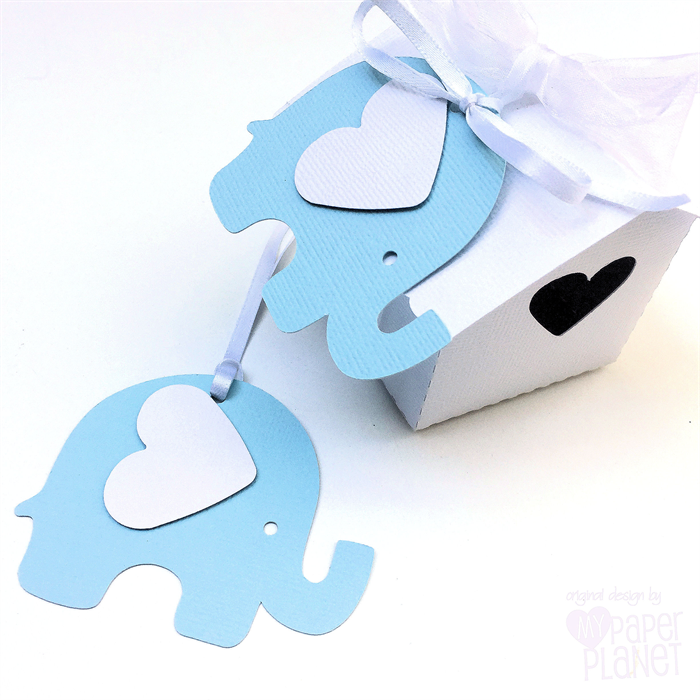 Blue White Elephant Baby Shower Gift Tags Baby Boy First