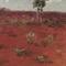 Outback Australia, Oil Pastel Painting, Original Art10x15cm, Framed 18x23cm