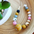 """Hand-painted """"Coastal"""" Wooden Necklace - The East Coast"""