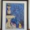 Princes Square Fountain, Tasmania, Oil Pastel, Original Art A3, Framed 44x54cm