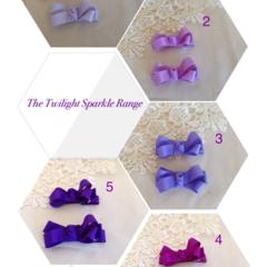 The Twilight Sparkle Range Hair Clip - Pair