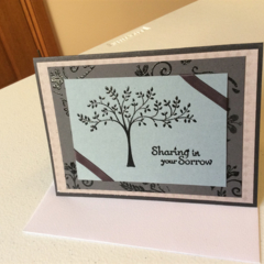 Sympathy cards. Grey/black sympathy cards.