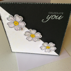 Female birthday cards. Black & White birthday cards.