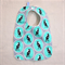 baby bib - green magpies / organic cotton and bamboo towelling