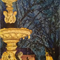 Princes Square Fountain, Tasmania, Oil Pastel, Original Art A3, Framed 44x54cm