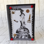 Steampunk themed notebook