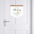 Door Banner - Tooth Fairy please stop here tonight. Wall hanging.