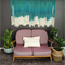 Emerald - Dip Dye Wall Hanging Weaving Tapestry Macrame