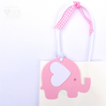 Pink & White Elephant baby shower gift tags. Baby girl, first birthday party.