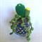 Crochet cactus arrangement in glass jar