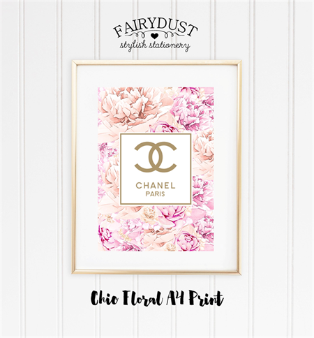 Chic Floral Classic A4 Print